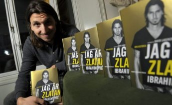 "AC Milan's and Sweden's soccer player Zlatan Ibrahimovic poses during a news conference on the occasion of the promotion of his autobiography ""I am Zlatan"", in Stockholm"