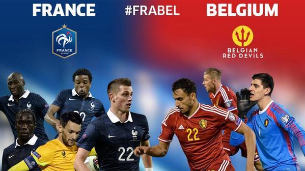 Image result for France vs Belgium