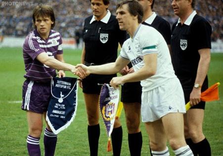 23/05/1984 SPORT / FOOTBALL / VOETBAL ANDERLECHT / TOTTENHAM UEFA CUP FRANKY VERCAUTEREN